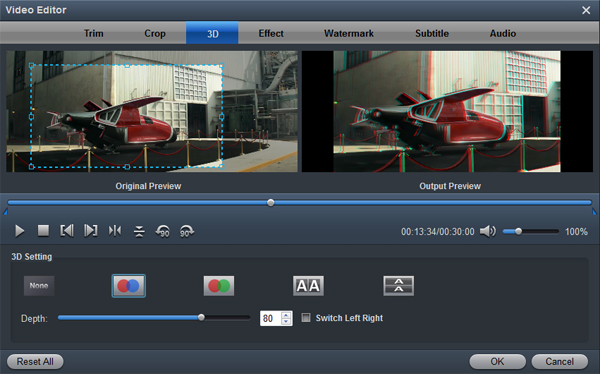 "Tip: You can click ""Settings"" to set the Video/Audio Parameters ..."